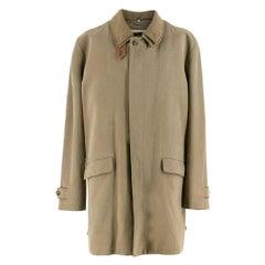 Loro Piana Men's Silk blend Single Breasted Coat XXXXL