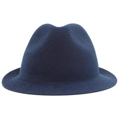 Loro Piana Navy Blue Cashfelt Hat