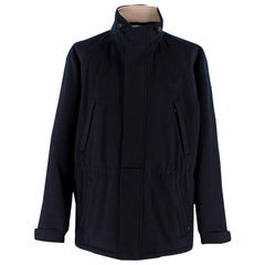 Loro Piana Navy Cashmere Icer Ski Jacket with Storm System XL