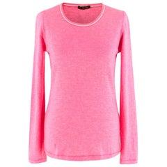 Loro Piana Pink Striped Cashmere Knit Sweater - Size US 8