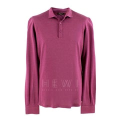 Loro Piana Purple Fine Wool Polo Shirt L