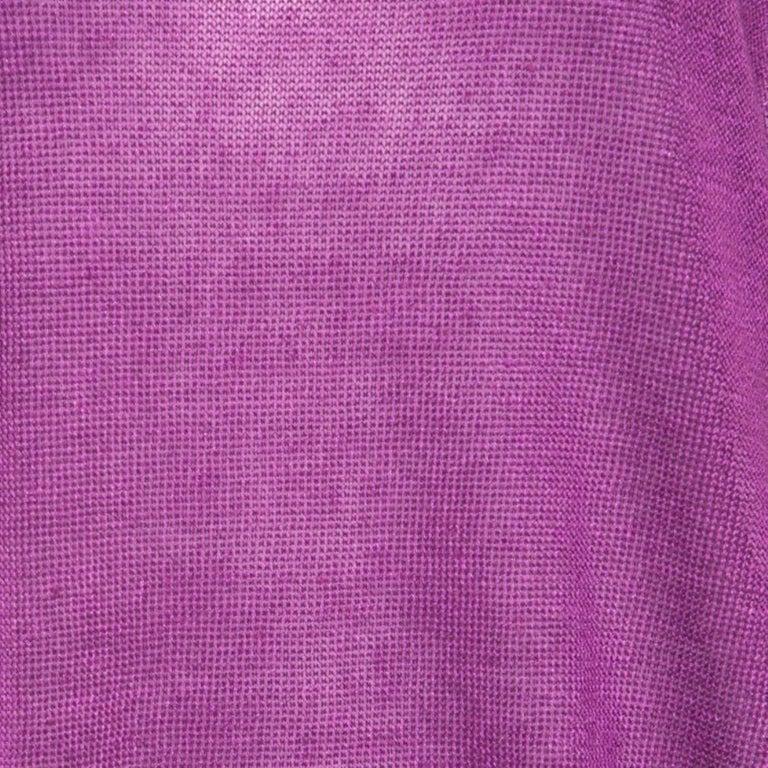 Women's Loro Piana Purple Linen and Silk Sweater M For Sale