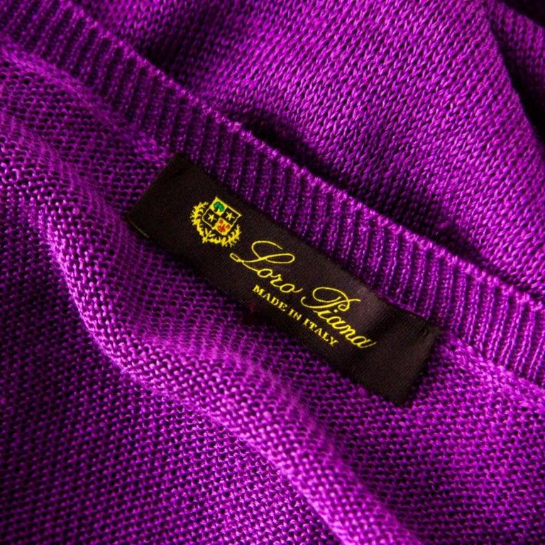 Loro Piana Purple Linen and Silk Sweater M For Sale 1