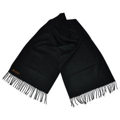 Loro Piana Rich Forest Green 2-Ply Cashmere Fringed Scarf