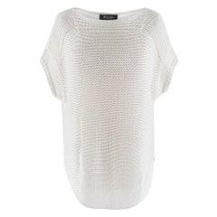 Loro Piana Silk & Linen Sleeveless Open Knit Jumper SIZE S