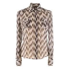 Loro Piana Silk Printed Shirt S 38