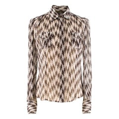 Loro Piana Silk Printed Shirt S 38