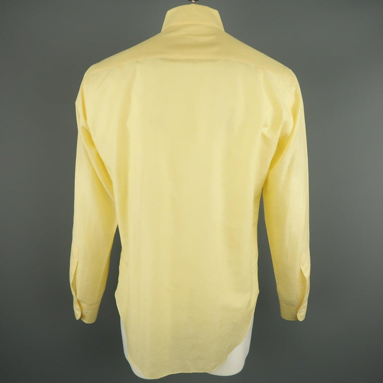 Beige LORO PIANA Size M Yellow Linen / Cotton Long Sleeve Shirt For Sale