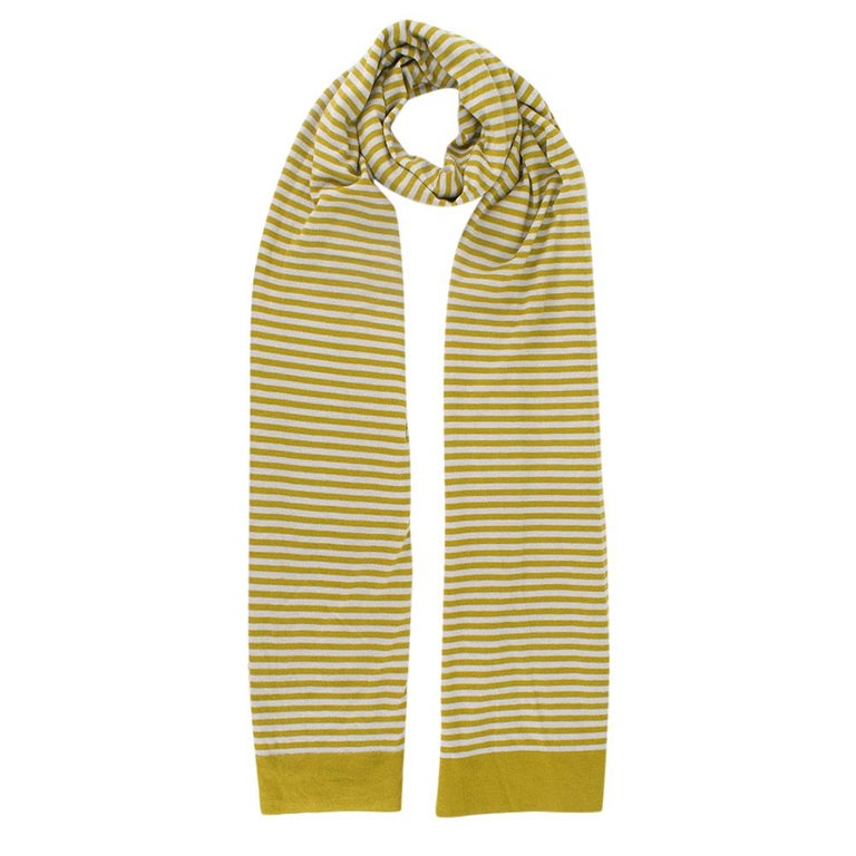 Loro Piana Cashmere Striped Long Scarf   - Thin Striped Pattern throughout   - 100% Cashmere  Made in Italy   Please note, these items are pre-owned and may show signs of being stored even when unworn and unused. This is reflected within the