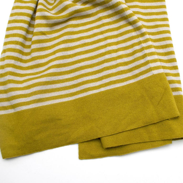 Loro Piana Striped Cashmere Scarf In New Condition For Sale In London, GB