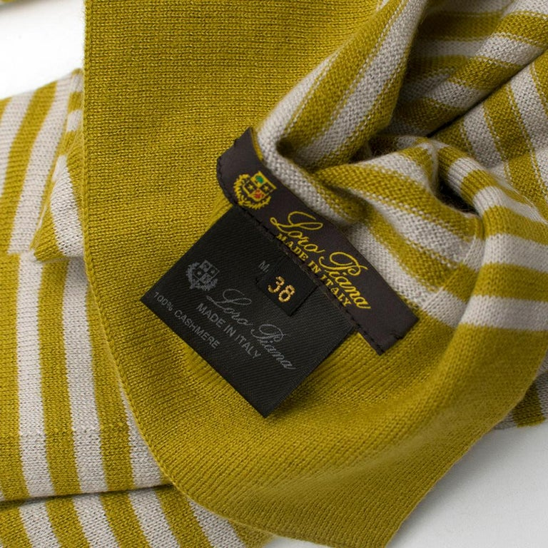 Loro Piana Striped Cashmere Scarf For Sale 1