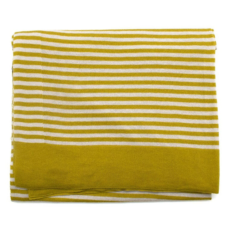 Loro Piana Striped Cashmere Scarf For Sale 2