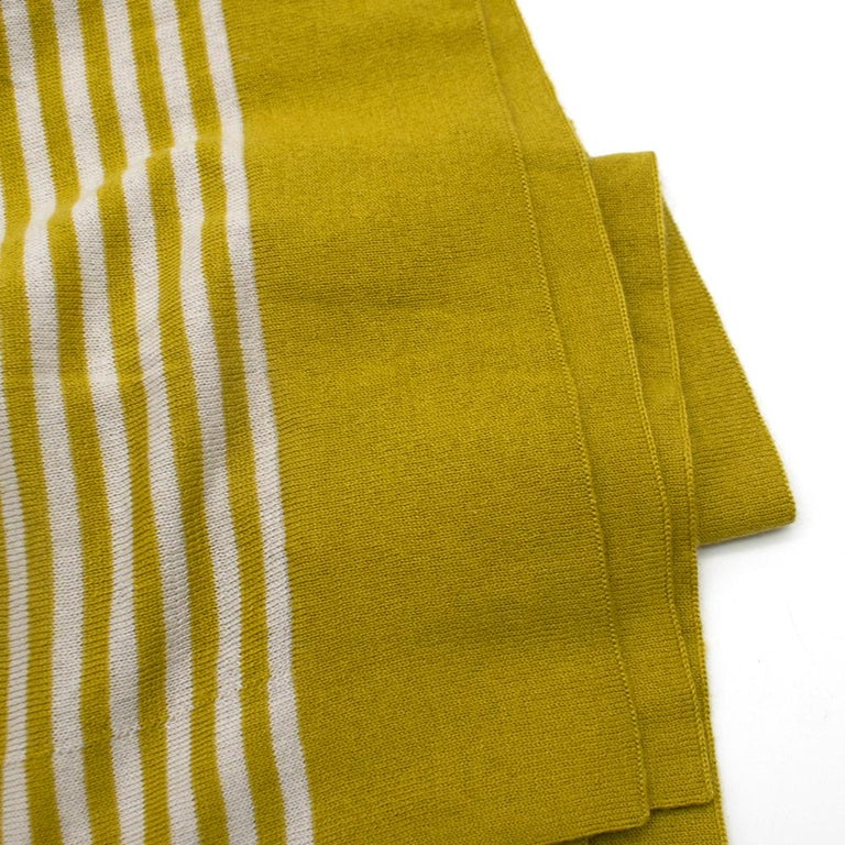 Loro Piana Striped Cashmere Scarf For Sale 3