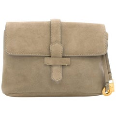 Loro Piana Suede Clutch Bag 19cm