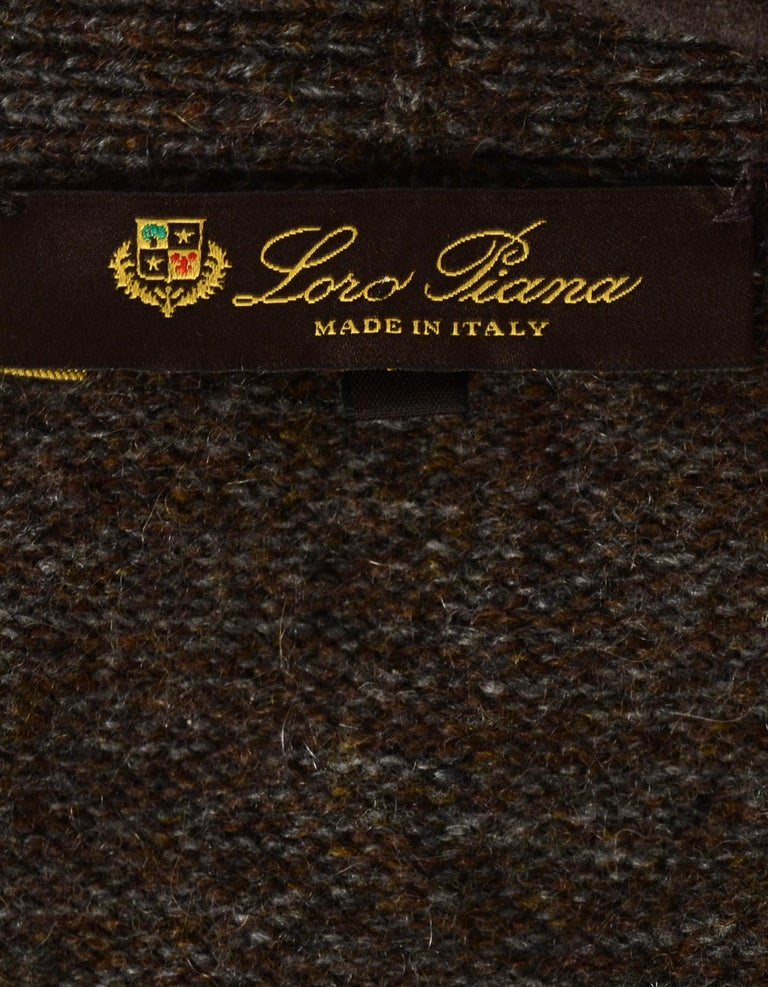 Loro Piana Taupe Extra Long Cashmere Cardigan IT44 In Excellent Condition For Sale In New York, NY