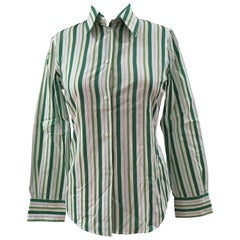 Loro Piana White Green Shirt