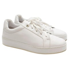 Loro Piana White Leather trainers38.5