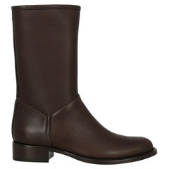 Loro Piana Woman Ankle boots Brown Leather IT 36