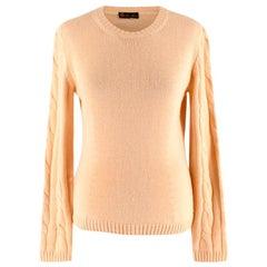 Loro Piana Yellow Silk & Cashmere Knit Sweater - Size US 6