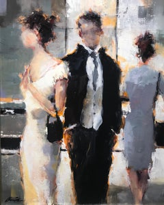 Can't Let Go by Lorraine Christie, Framed Impressionist Oil on Canvas Painting