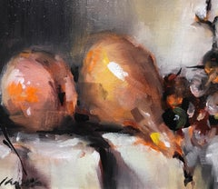 Here for a Day, Lorraine Christie Small Framed Still-Life Impressionist Painting