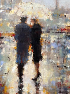 I Think We Should by Lorraine Christie Impressionist Figurative Painting