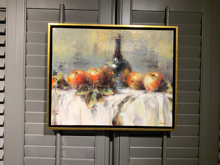 The Scent of Apples by Lorraine Christie Framed Impressionist Painting For Sale 1