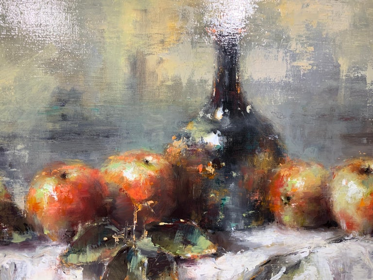The Scent of Apples by Lorraine Christie Framed Impressionist Painting For Sale 4