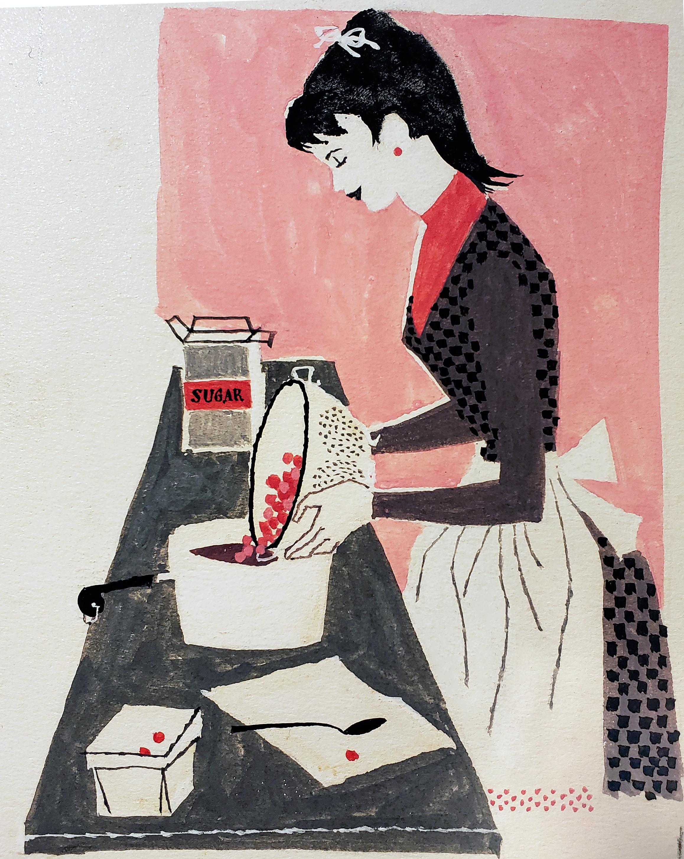 Woman Baking, Redbook Illustration