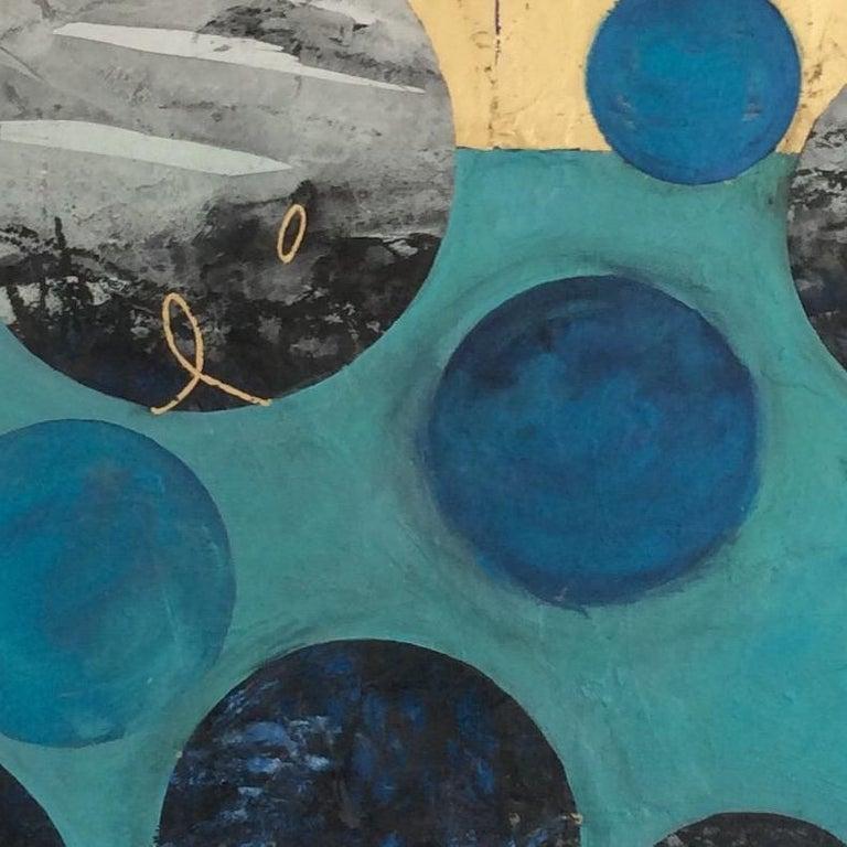 Ascending, multimedia, original artwork, contemporary abstract painting - Abstract Painting by Lorraine Thorne