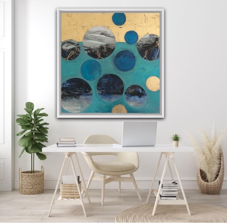 Ascending, multimedia, original artwork, contemporary abstract painting For Sale 1