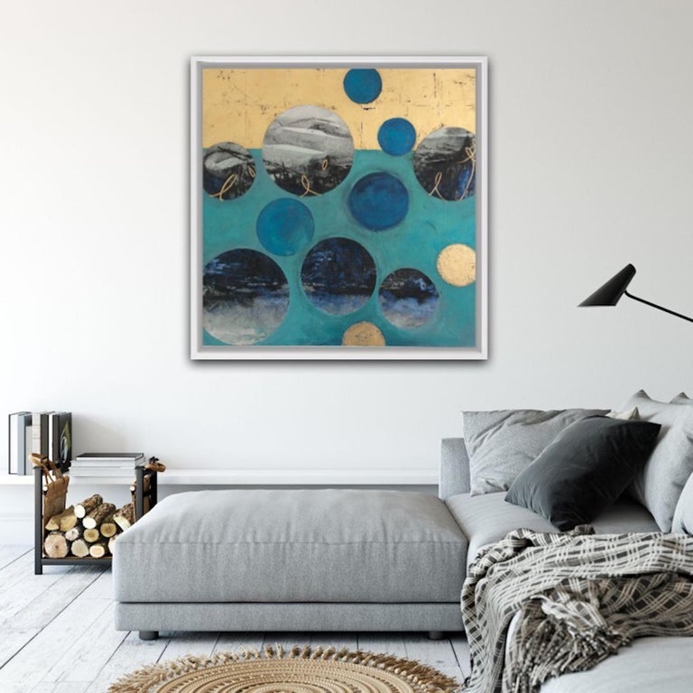 Ascending, multimedia, original artwork, contemporary abstract painting For Sale 2