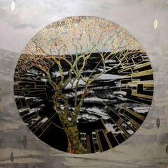 Lorraine Thorne, Evolutionary Tree, Original Painting, Mixed MedIa, Landscape