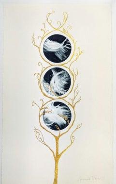 Lorraine Thorne, Tree of Life MonoPrint Series III, Original landscape painting