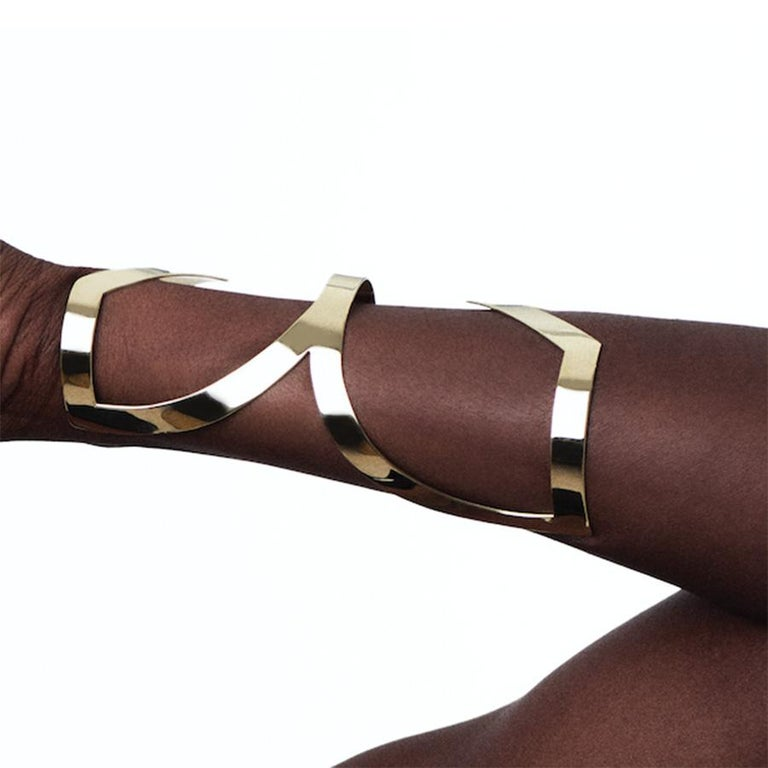 Lorraine West Fawohodie Cuff Bracelet In New Condition For Sale In Brooklyn, NY