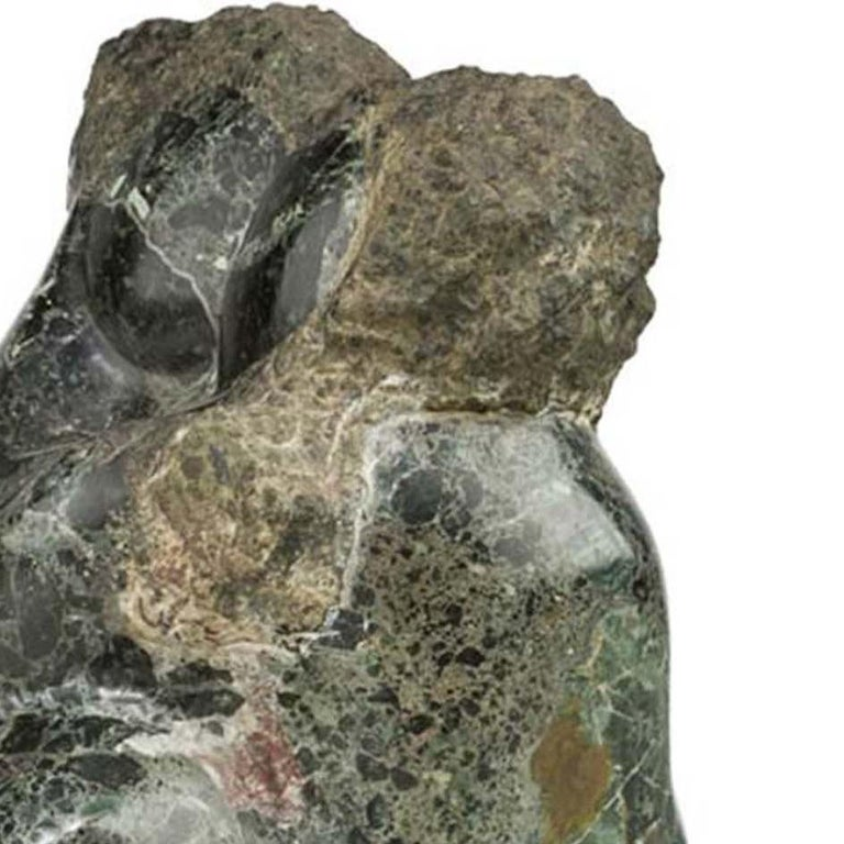 Embrasing Couple - Cubist Sculpture by Lorrie Goulet