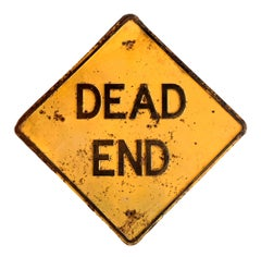 Los Angeles 'DEAD END' Embossed Street Sign