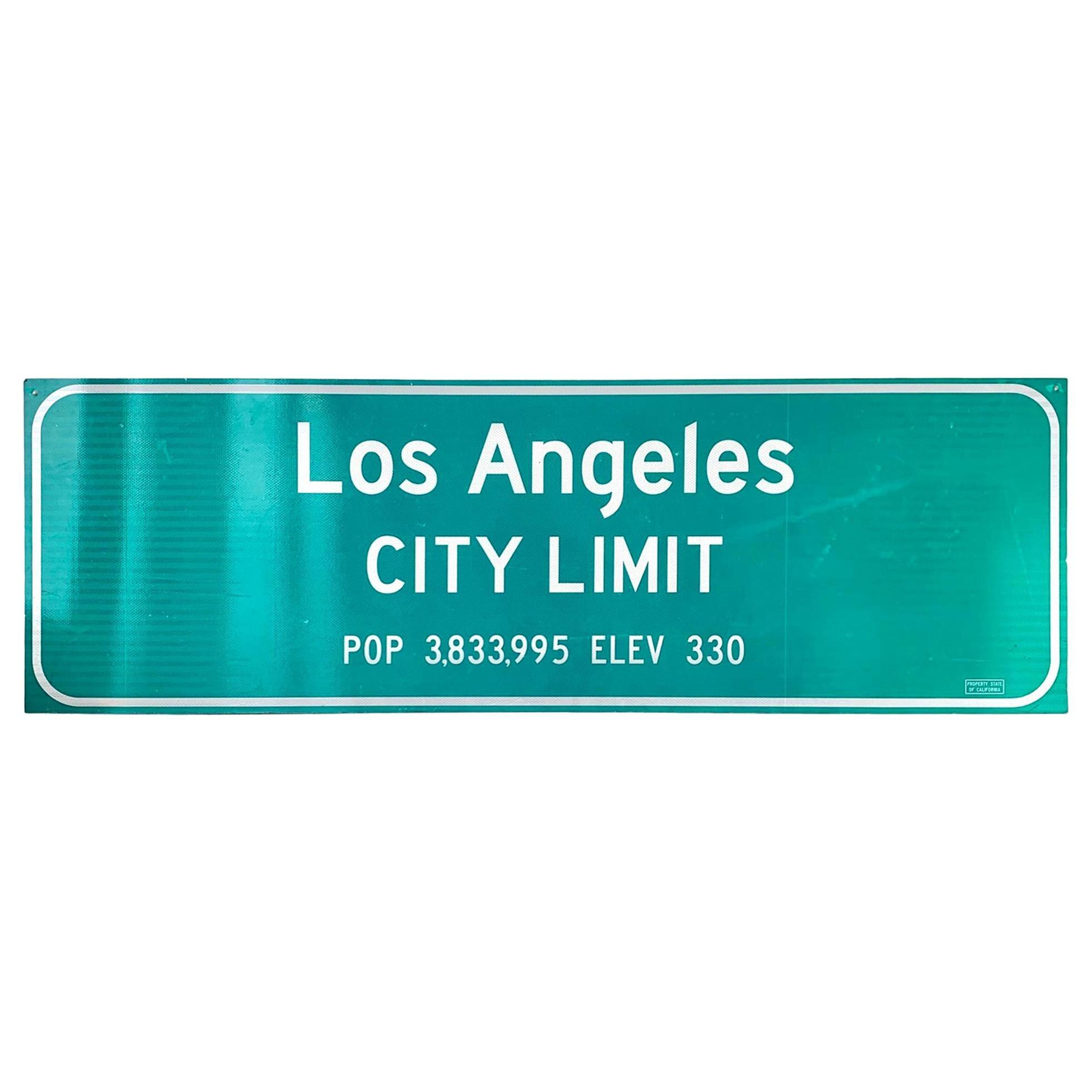 Los Angeles Freeway City Limit Sign
