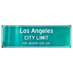 Los Angeles Freeway City Limit Sign