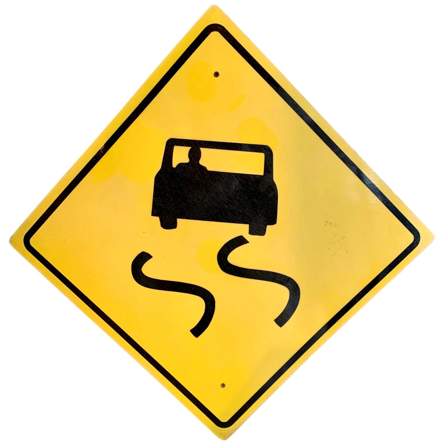 Los Angeles Slippery Road Highway Sign