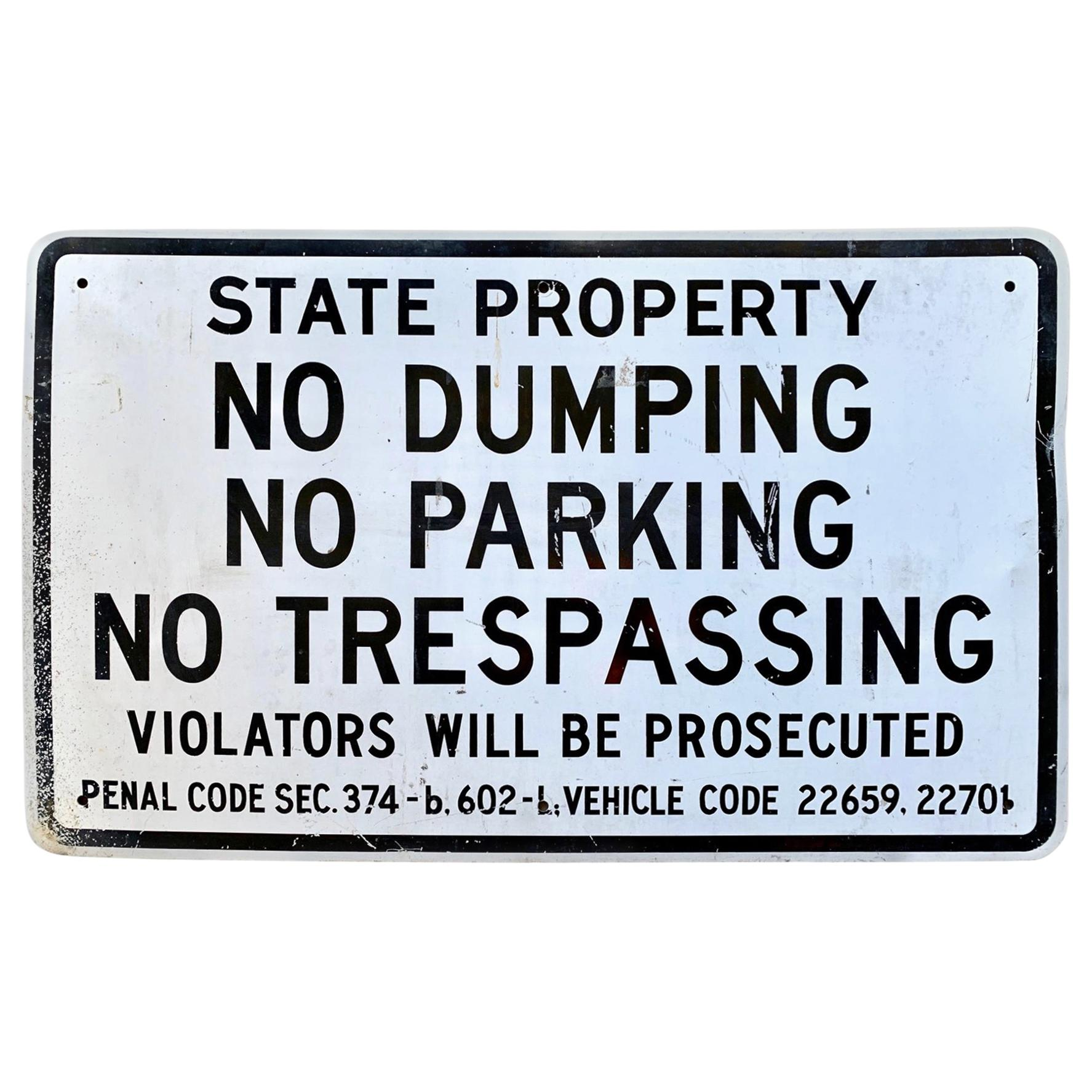 """Los Angeles """"State Property"""" Sign, 1984"""