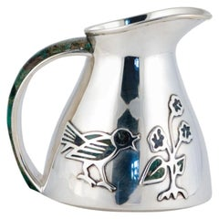 Los Castillo Abalone Silverplate Pitcher 1965