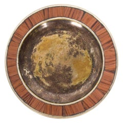 Los Castillo Decorative Plate in Bronze Silver, Mexico, 1970s