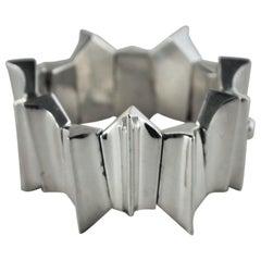 Los Castillos Modernist Sterling Silver Bracelet