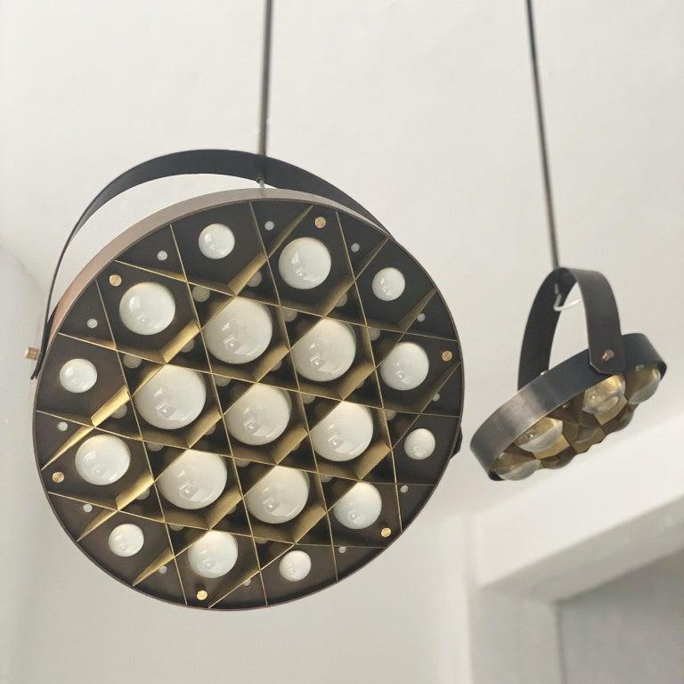 Modern Special edition pendant lamps set Surgeon, bronzed brass finish.