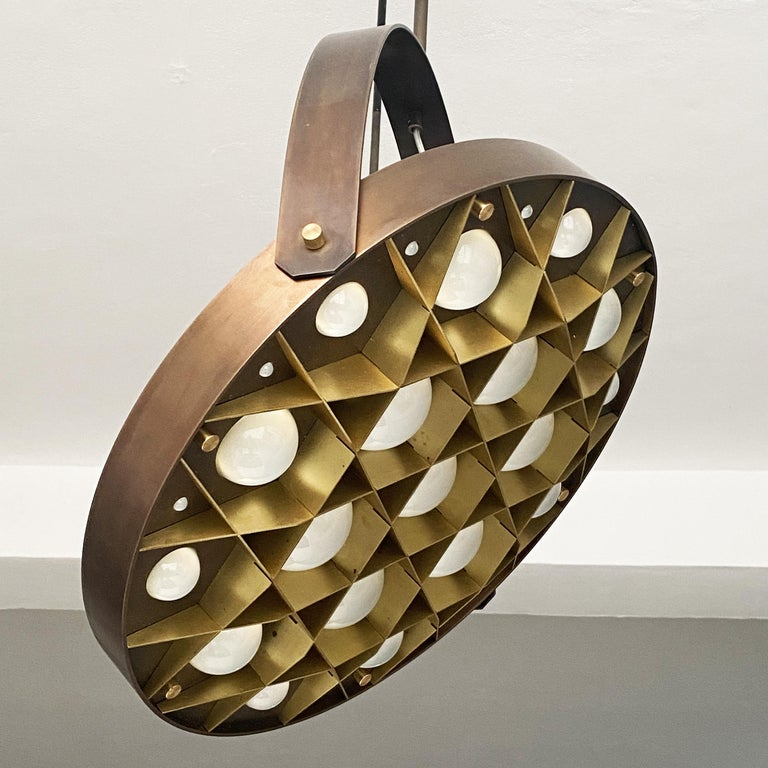 Australian Special edition pendant lamps set Surgeon, bronzed brass finish.