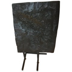 Lost Wax Process Mid-Century Modern Abstract Bronze Sculpture