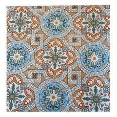Lot of Blue and Orange Designed Tiles
