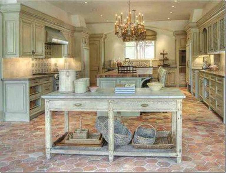 French 18th Century Reclaimed Terracotta Hexagon Flooring For Sale