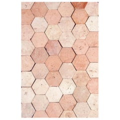 18th Century Reclaimed Terracotta Hexagon Flooring